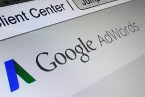 Pay per click google adwords screen shot